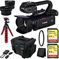 Canon XA30 Professional Camcorder + 2x 64GB Memory Cards + Deluxe Carry Case + Advanced Accessory Bundle
