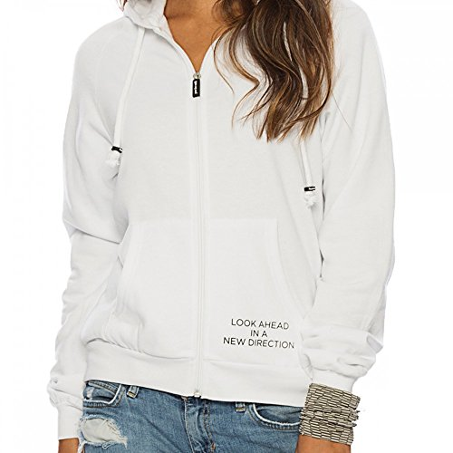 Peace Love Oprah White Fleece Zip Hoodie X-Small by Peace Love World (Image #2)'