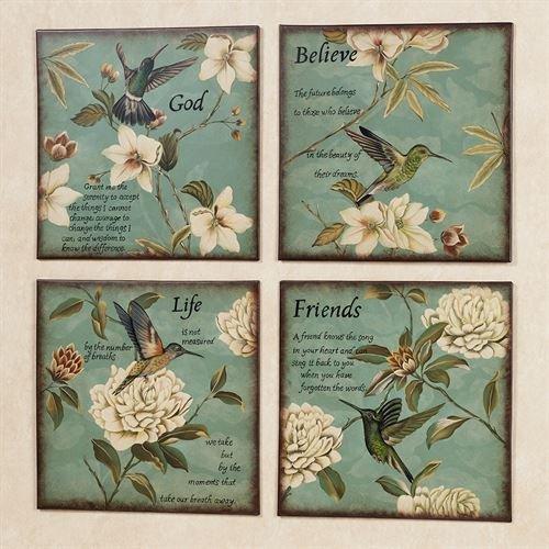 Touch of Class Hummingbird Wall Plaque Set Set of ()