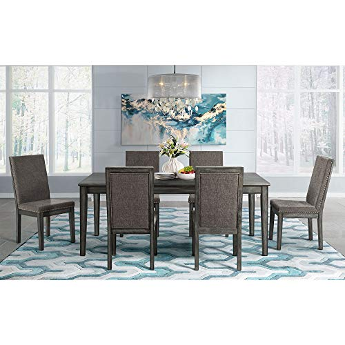 ings Austin 7 Piece Extendable Dining Set in Gray ()