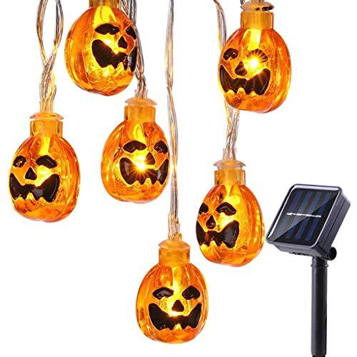 jiulonerst-Halloween LED Pumpkin String Lights, Pumpkin Lantern Decoration