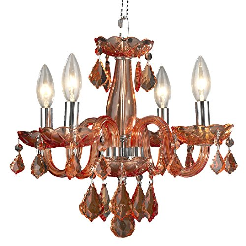 Worldwide Lighting W83100C16-CR Clarion 4 Light Mini Crystal Chandelier, 16