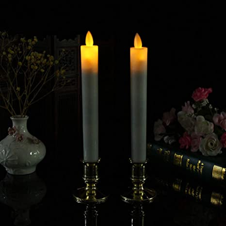 Uonlytech - 2 velas LED sin llama, velas eléctricas para ...