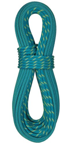 BlueWater Ropes 9.1mm Icon Double Dry Dynamic Single Rope (Bi-Pattern Blue, 70M)