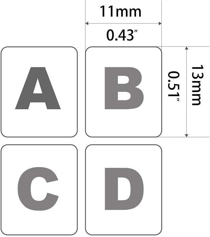 LAANCOO Autocollants de Remplacement de Clavier Espagnol Ordinateurs de Bureau 3Pcs Autocollants Non-Transparent Clavier Espagnol avec Fond Noir sur Blanc Lettrage pour Les Ordinateurs Portables