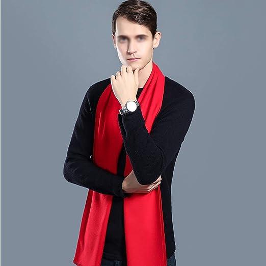 Las Bufandas de Los Hombres Pañuelo Rojo de la Piel de Usar ...