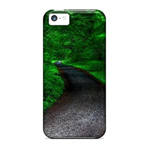Awesome Design Dark Winter Road Hard Case Cover For Iphone 5/5s