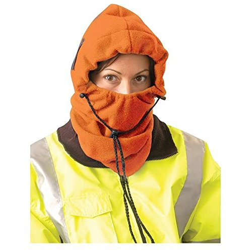 OccuNomix 3-in-1 Fleece Balaclava Cold Weather Hood, Hi-Vis Orange (18 Pack)