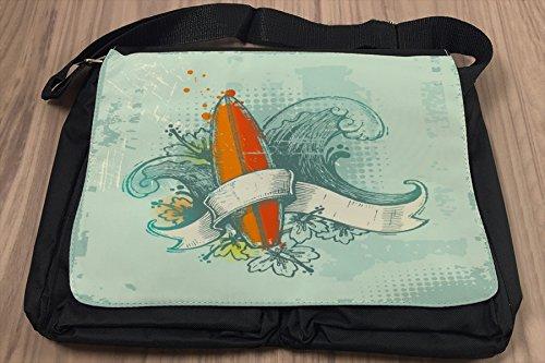 Umhänge Schulter Tasche Sport Surf bedruckt