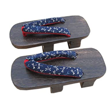 Amazoncom Japanese Mens Cosplay Shoes Geta Wooden Clogs Sandals