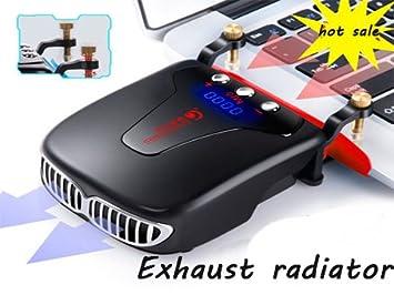 Venta caliente controlador inteligente de temperatura pantalla Digital Portatil Radiador Escape Tipo ordenador Radiador para Ordenador negro negro malls: ...