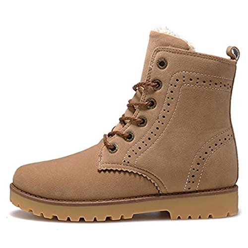 Boots Worker Unisex Martin Boots Boots Non Snow Mens Flat Waterproof Winter Outdoor Boots Beige Ankle Womens Up Lining Lace Boots Winter Shoes Warm Boots Slip Shoes Boots vg5Z5wqYn