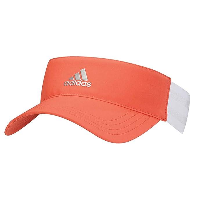 b1d82c13 adidas 3 Stripe Golf Visor 2018 Women Orange One Size Fits All