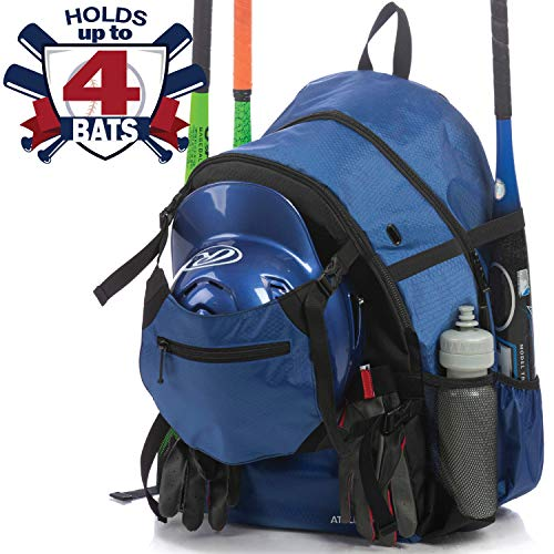 Athletico Advantage Baseball Bag - Baseball Backpack with External Helmet Holder for Baseball, T-Ball & Softball Equipment & Gear for Youth and Adults | Holds Bat, Helmet, Glove, Shoes ()