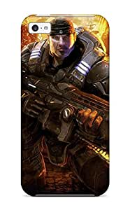 Iphone High Quality Tpu Case/ Video Game Gears Of War LXSGtWa2893SfeNO Case Cover For Iphone 5c