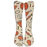 Women & Men Celebrate Thanksgiving Knee High Socks Sport Long Stockings