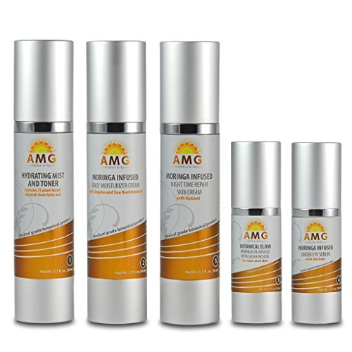 All-natural, Anti-aging, 5 Step Skin Care System by AMG Naturally