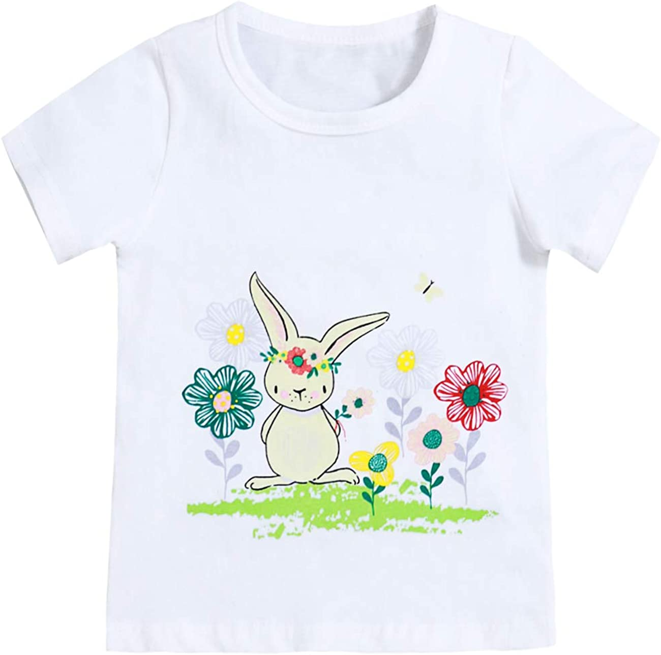 NEW Children Boy Summer t-shirt Easter Bunny Girls/' Graphic Tee Tops Cotton Age