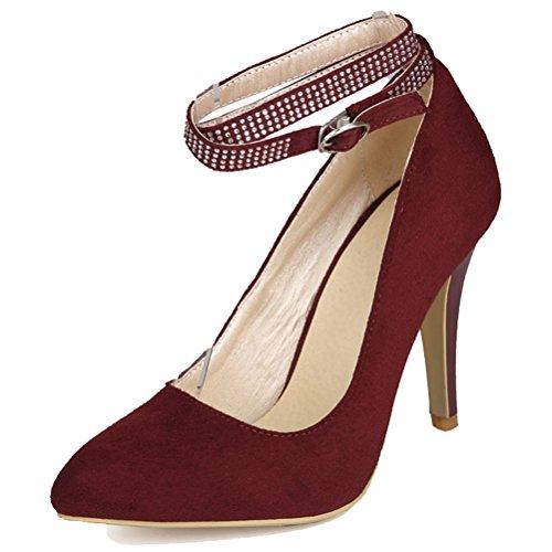 Donna 35 Con Cinturino Caviglia alla HiTime Rosso EU Wine I0qw40azx