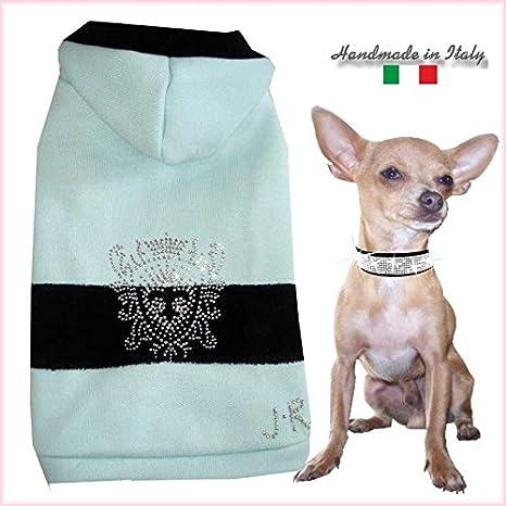 Sudadera con capucha XXS King Corona Chihuahua perro perros - Sudadera para mujer para pequeños perros mano: Amazon.es: Productos para mascotas
