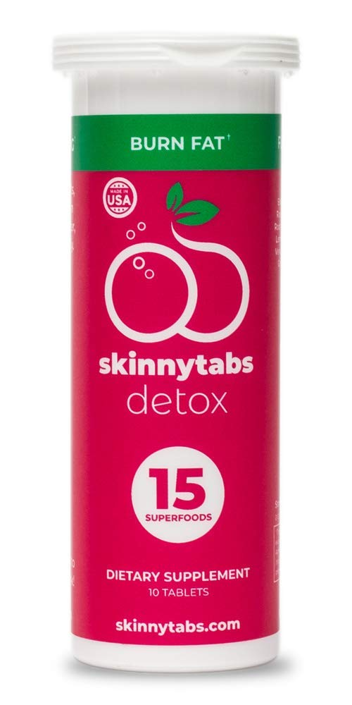 Skinnytabs -- Berry Flavor -- Effervescent Skinny Tabs Detox -- 15 All-Natural Superfoods, Laxative-Free, 30 Servings -- Sugar-Free, Low Carb -- Flush Toxins, Reduce Bloating & Supercharge Metabolism by Skinnytabs (Image #6)