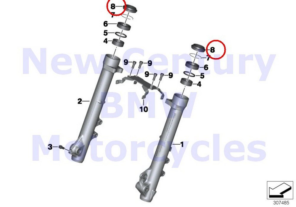 2 x BMW Genuine Motorcycle Fork Slider Dust Protection Collar D=41MM F650CS R1200GS R1200GS Adventure R1200RT R900RT R1200R R1200ST HP2 Sport F700GS F650GS G650GS G650GS Sertao by BMW