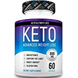 Keto Pills from Shark Tank - Ketogenic Diet Supplement with Beta Hydroxybutyrate Ketone Salts - Boost Energy and Metabolism - Keto Ultimate Diet 60Caps