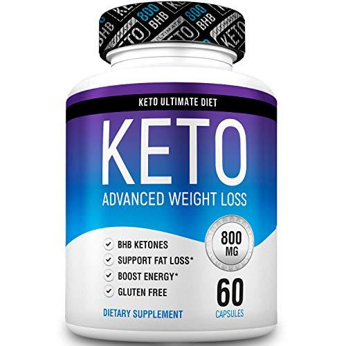 Keto Ultimate Diet - Keto Pills from Shark Tank – Ketogenic Diet Supplement with Beta Hydroxybutyrate Ketone Salts – Premium Formula 60Caps