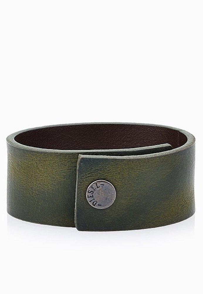 DIESEL Men's Brown ''A-ROUGH'' Leather Cuff Bracelet