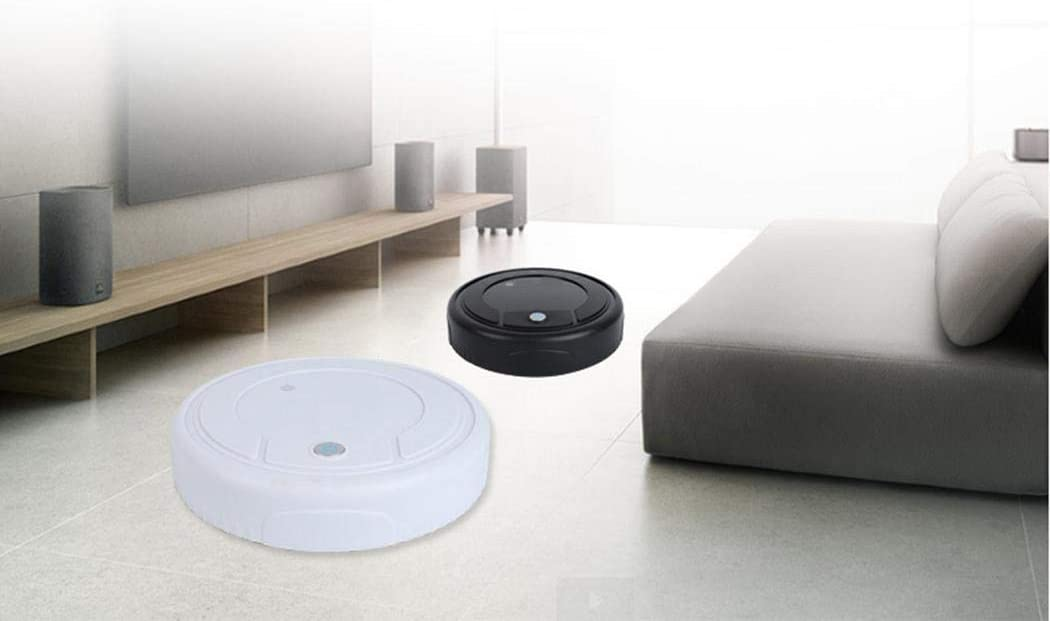 Battery Automatic Robotic Vacuum Cleaner Strong Suction Good for Pet Hair Robot Vacuum Cleaner Low Pile Carpet Hard Floors