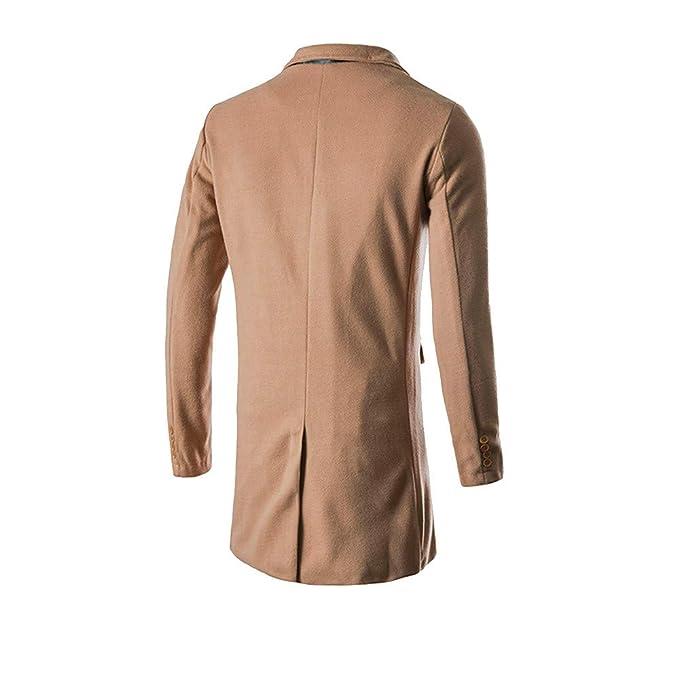 Yvelands Chaquetas Grandes y Altas de Ropa de Trabajo, Camisas Cortas con Botones Casual, Camisa de Abrigo de Lana con Solapa, Color sólido Largo: ...