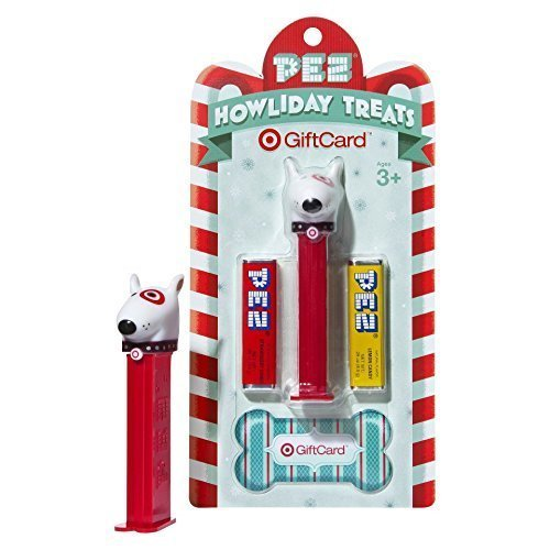 Target Bullseye Dog PEZ Dispenser Holiday Gift Card Collectible, Zero Dollar Balance by Pez Candy