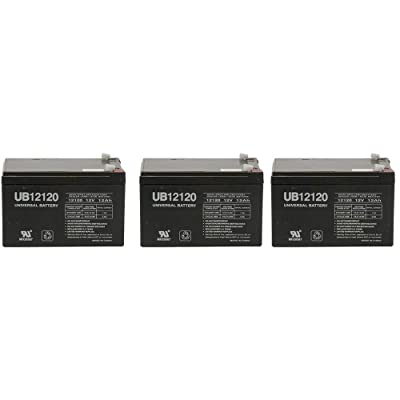 Universal Power Group 12V 12Ah Replacement Battery for Maverix USA Border X 800W - 3 Pack : Sports & Outdoors