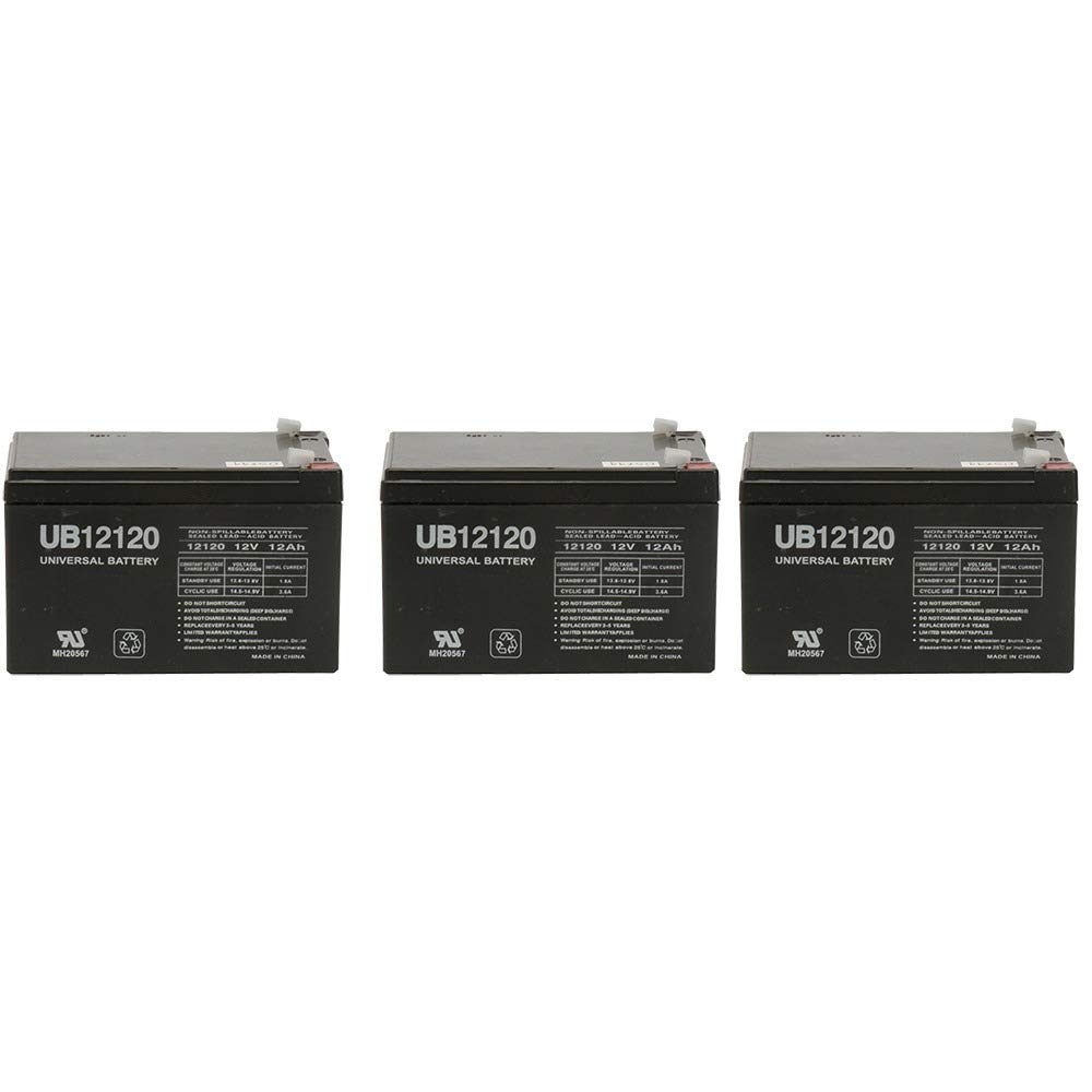 12v 12000 mAh UPS Battery for Drive Medical Phoenix Mobility Chair - 3 Pack