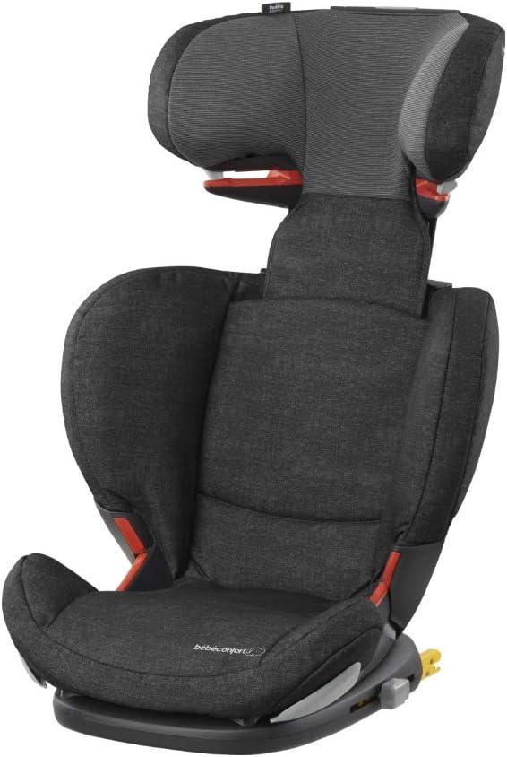 Bébé Confort RODIFIX AirProtect, Silla de auto para niño con ISOFIX, R44/04, reclinable, segura y ligera, desde los 3.5 hasta los 12 años, 15-36 kg, gr. 2/3, Nomad Black (negro)