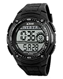 Men's Digital Watch,Sports Multifunction Waterproof Big Dial Wrist Watch Black SK1203A