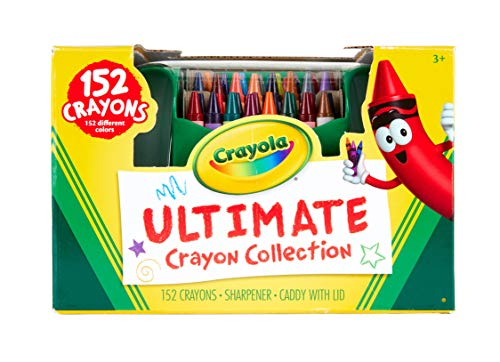 Crayon Assortment - Crayola Ultimate Crayon Collection, 152 Pieces, Coloring Supplies, Styles May Vary, Gift