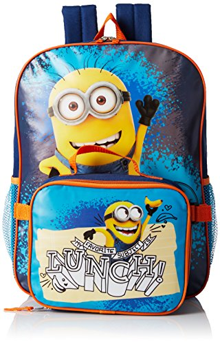 Despicable Me Boys' Despicable Me Dual Backpack With Detachable Lunch Bag Top Of The Class, Multi, One Size