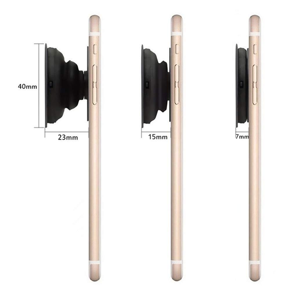 Csttttd Support de t/él/éphone Extensible avec poign/ée pour t/él/éphones intelligents et tablettes-marbre Blanc Rose Ananas Or