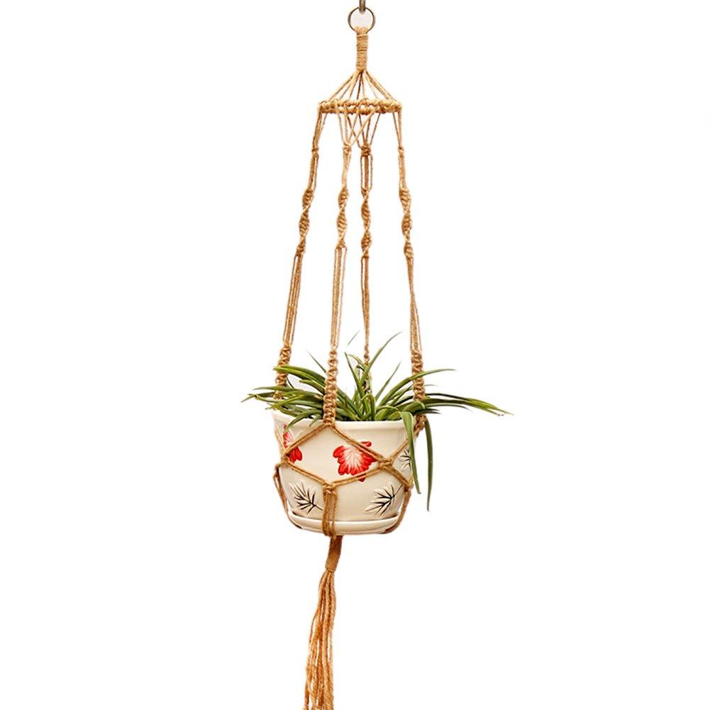 Hippicity macram/é de Cintre Int/érieur ou ext/érieur /à Suspendre Panier jardini/ère Corde en Coton Web pour Succulente C