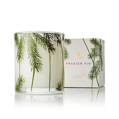 Thymes - Frasier Fir Pine Needle Decorative Glass Jar Candle with 50-Hour Burn Time - 6.5 Ounces - FRASIER FIR FRAGRANCE - Frasier Fir will be your new delectable holiday tradition, with a mix of aromatic snap of crisp Siberian Fir needles, heartening cedarwood and relaxing sandalwood. HIGH-QUALITY WAX - Thymes uses top quality food-grade paraffin wax and non-metal wicks to ensure a higher quality color, scent, and a burn lasting up to 50 hours. SET THE MOOD FOR MEMORIES - Mountain fresh and glowing, Thymes sets the mood for those special moments that make up our life stories, creating a tradition to savor and to share. - living-room-decor, living-room, candles - 51ESK0WiB1L. SS400  -