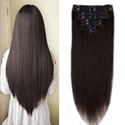 110-140g Clip in 100% Remy Human Hair Extension Thick Clip on with Cloth Full Head 8 Pieces 18 Clips Long Straight Natural Hair by sexy baby