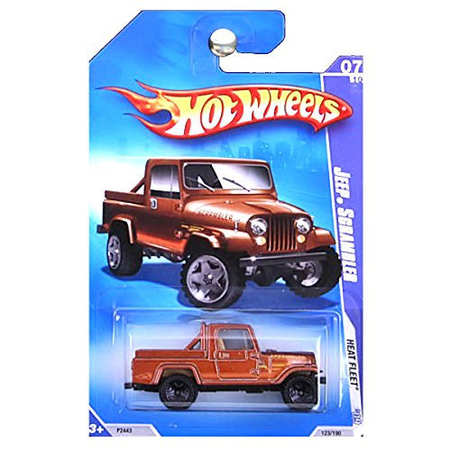 - Hot Wheels 2009 Heat Fleet Jeep Scrambler Brown Copper