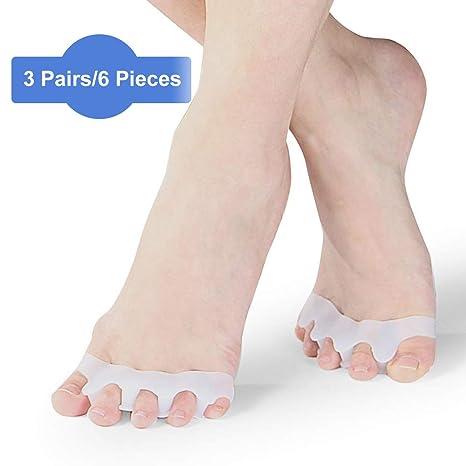 Separadores de dedos, estirador de dedos de los pies, silicona suave para juanetes,