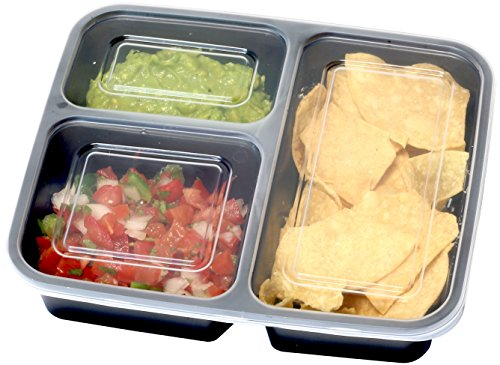 10 Pack Simplehouseware 3 Compartment Food Grade Meal