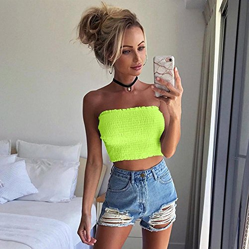 Lingerie Camis Shouler Womens for Sexy for Vest LuckUK Women Crop Tops Womens Tops Tops Off Womens Tops Green Shirt Sexy Ladies Women T Bra Strapless Blouse Lingerie Bralette qRwP4
