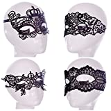 Mismxc Women Party Masquerade Costume Bar Lace Soft Eye Mask 4pcs (4)