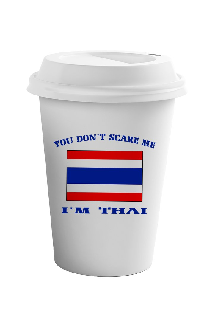 Style In Print You Don't Scare Me I'm Thai Coffee Ceramic Travel Tumbler Mug 11oz by Style in Print