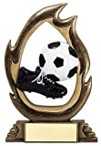 Decade Awards Soccer Flame Series Trophy/Burning Soccer Award/Futbol Award/Soccer Trophy | 7.25 Inch