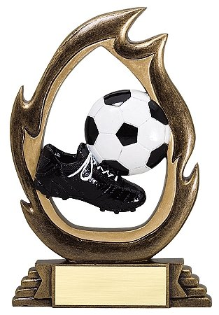 Soccer Trophy Trophy - Decade Awards Soccer Flame Series Trophy | Soccer Team Award | Futbol Award | 7.25 Inch Tall - Free Engraved Plate on Request